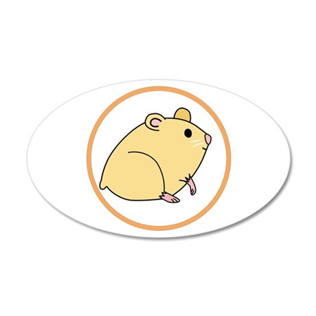 Cute Hamster 20x12 Oval Wall Decal