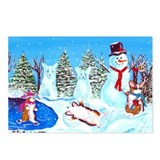 Snow Corgis II Postcards (Package of 8)