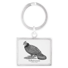 Ruffed Grouse Landscape Keychain