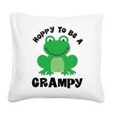 Hoppy to be a Grampy Square Canvas Pillow