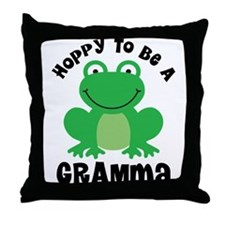 Hoppy to be a Gramma Throw Pillow