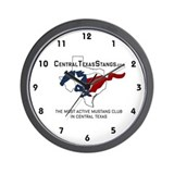 Central Texas Stangs Wall Clock