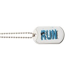 Grunge RUN Dog Tags
