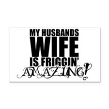 my husbands wife Rectangle Car Magnet