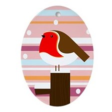 Rocking Robins Ornament (Oval)