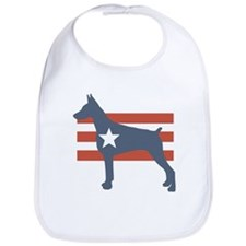 Patriotic Doberman Pinscher Bib