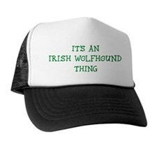 Irish Wolfhound thing Trucker Hat