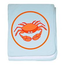 Cute Crab baby blanket