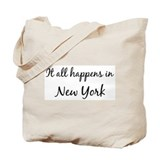 Happens in New York Tote Bag
