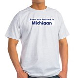 Raised in Michigan Ash Grey T-Shirt