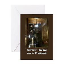hhjj journal bradbury building noir Greeting Card