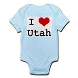 I Love Utah Infant Bodysuit