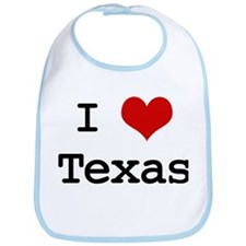 I Love Texas Bib