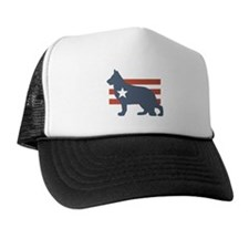 Patriotic German Shepherd Trucker Hat