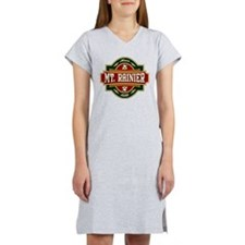 Mt. Rainier Old Label Women's Nightshirt