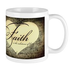 faith is grunge heart Mug