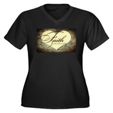 faith is grunge heart Plus Size T-Shirt