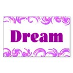 DREAMS Rectangle Sticker