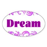 DREAMS Oval Sticker