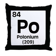 Polonium Throw Pillow