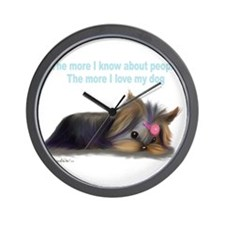 ByCatiaCho Yorkie L.Thinker Wall Clock