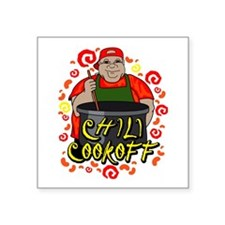 Man in Apron Chili Cookoff Graphic Sticker