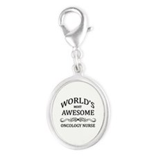 World's Most Awesome Oncology Nurse Silver Oval Ch