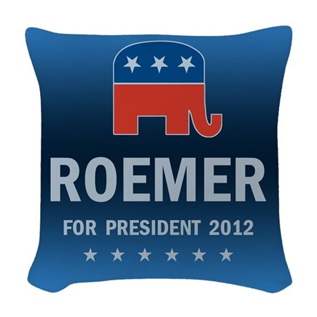 Buddy Roemer For President Woven Throw Pillow
