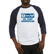 Eat Sleep Armwrestling Baseball Jersey