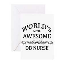 World's Most Awesome OB Nurse Greeting Cards (Pk o