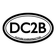 Future Chiropractor (DC2B) Oval Decal