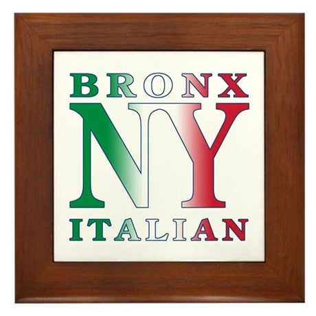 Bronx New York Italian Framed Tile