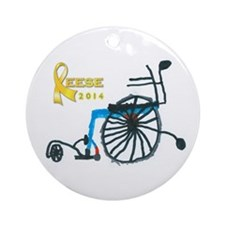 2012 Reese Christmas Ornament Round