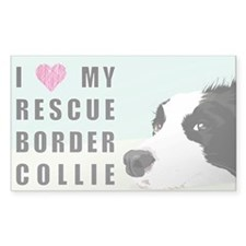 Border Collie Rescue Love Decal