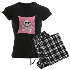 Pink Skull & Crossbones Pirate Flag Pajamas