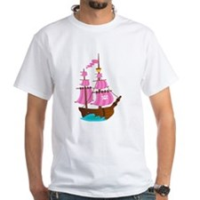 Pink Pirate Ship Shirt