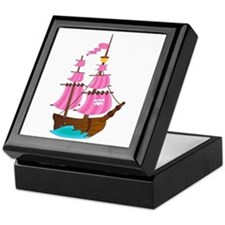 Pink Pirate Ship Keepsake Box
