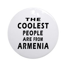 The Coolest Armenia Designs Ornament (Round)