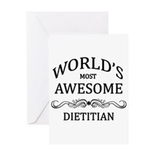 World's Most Awesome Dietitian Greeting Card