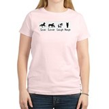 live love laugh neigh Women's Pink T-Shirt