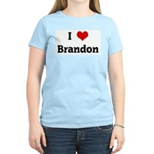 I Love Brandon Women's Pink T-Shirt