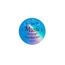 God Gave Us Music Mini Button (10 pack)