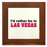 I'd rather be in Las Vegas Framed Tile