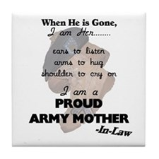 Proud Army Mom-In-Law Tile Coaster
