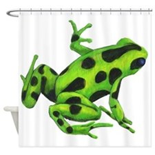 Green Dart Frog Shower Curtain