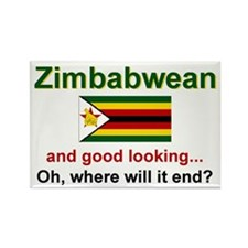 Good Looking Zimbabwean Rectangle Magnet