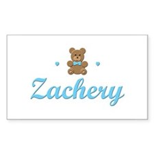 Teddy Bear - Zachery Rectangle Decal