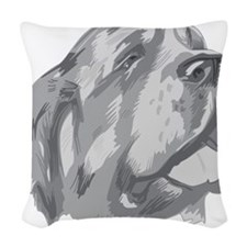 St. Bernard Illustration Woven Throw Pillow