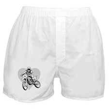 I love dirt biking with a heart Boxer Shorts