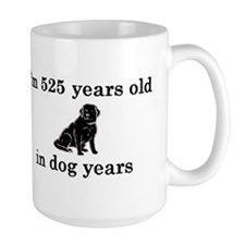 75 birthday dog years lab 2 Mug